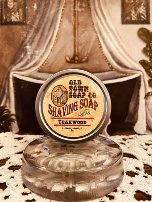 Teakwood -Shave Soap Tin