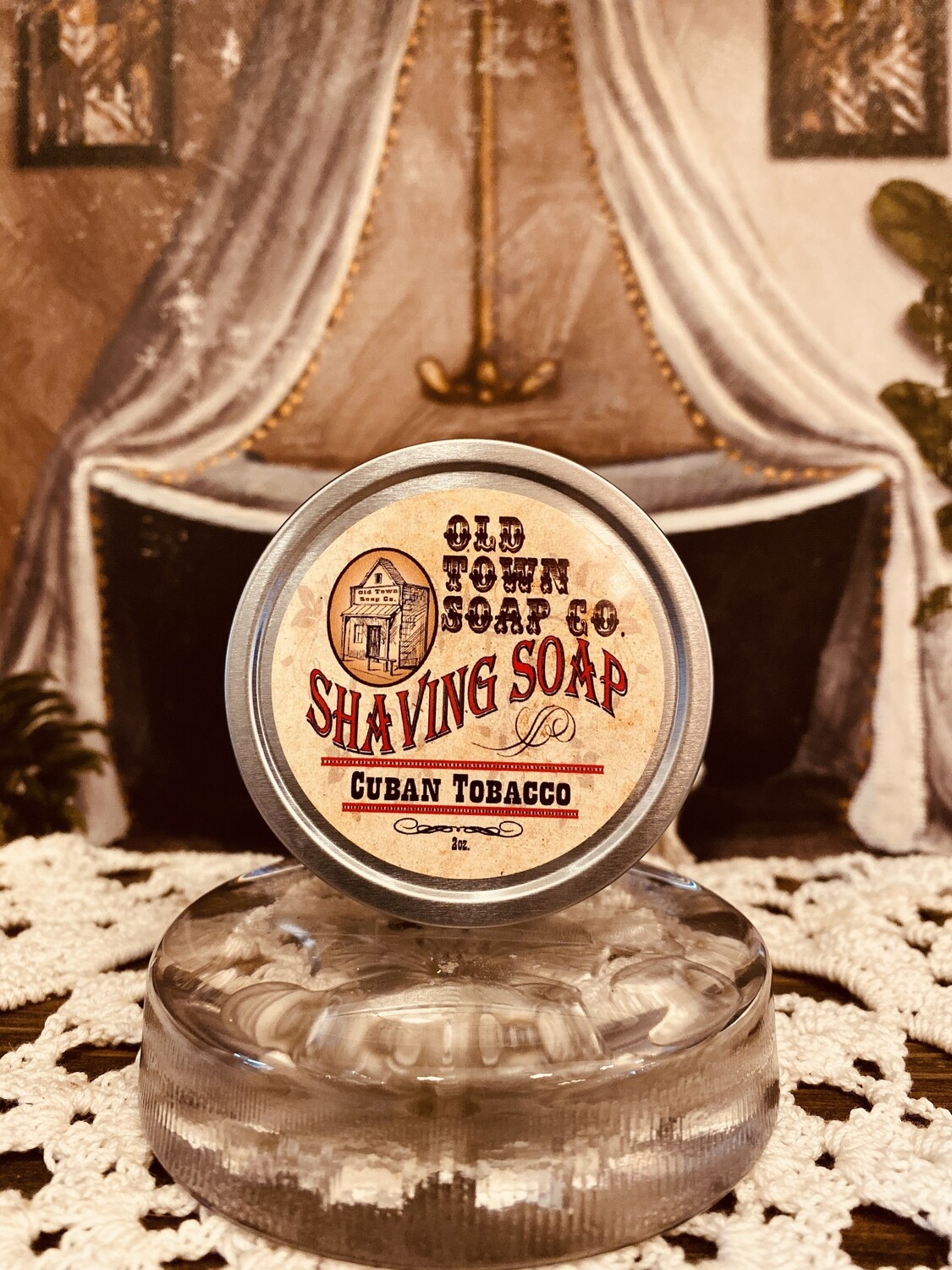 Cuban Tobacco -Shave Soap Tin