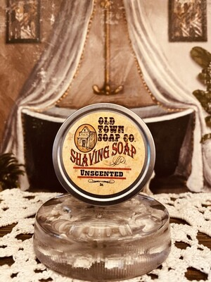 Unscented -Shave Soap Tin