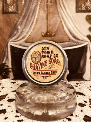 1920's Barber Shop -Shave Soap Tin