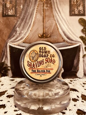 The Silver Fox -Shave Soap Tin
