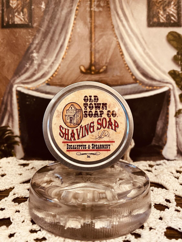 Eucalyptus & Spearmint -Shave Soap Tin