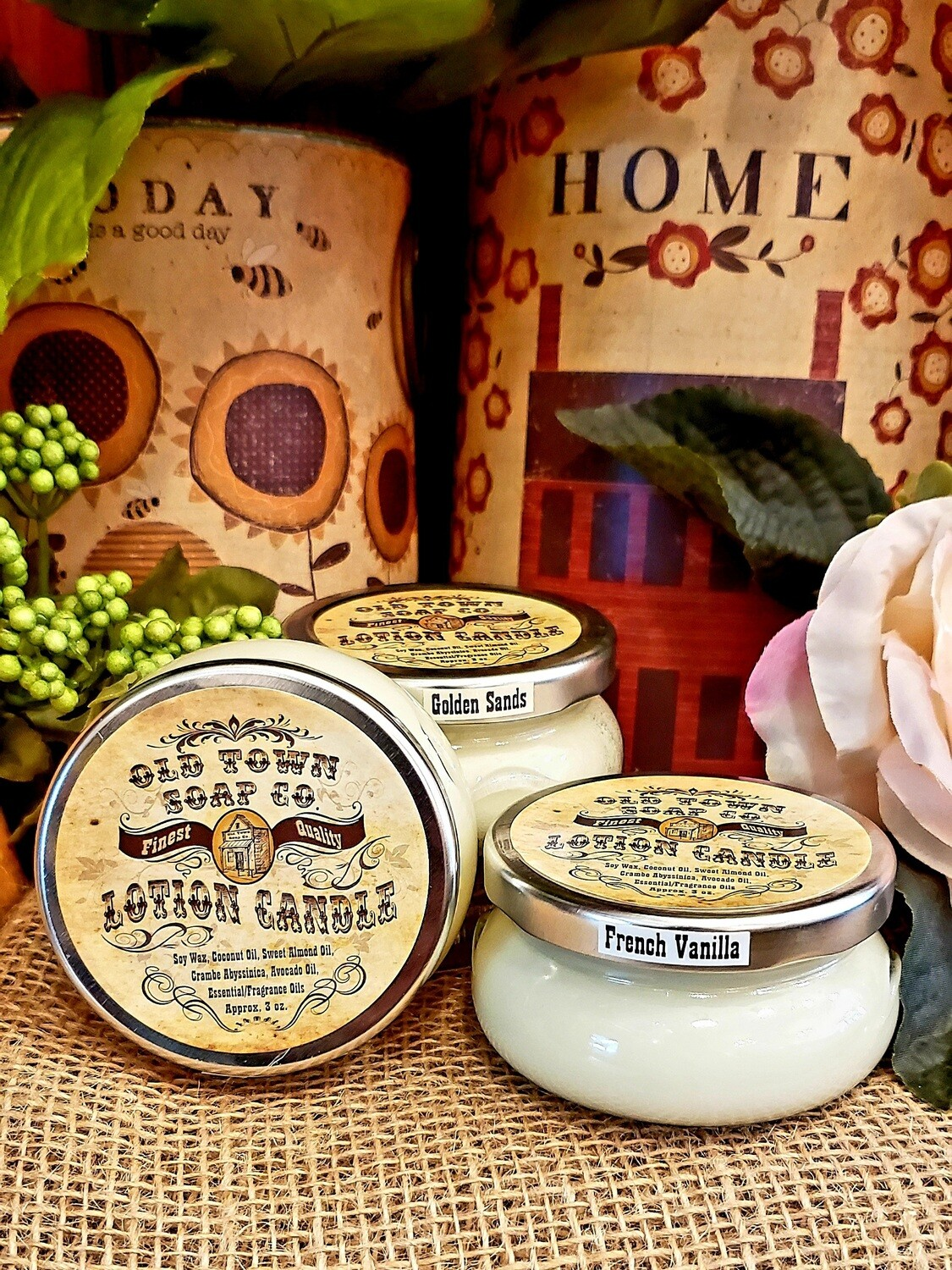 Frankincense and Myrhh -Lotion Candles