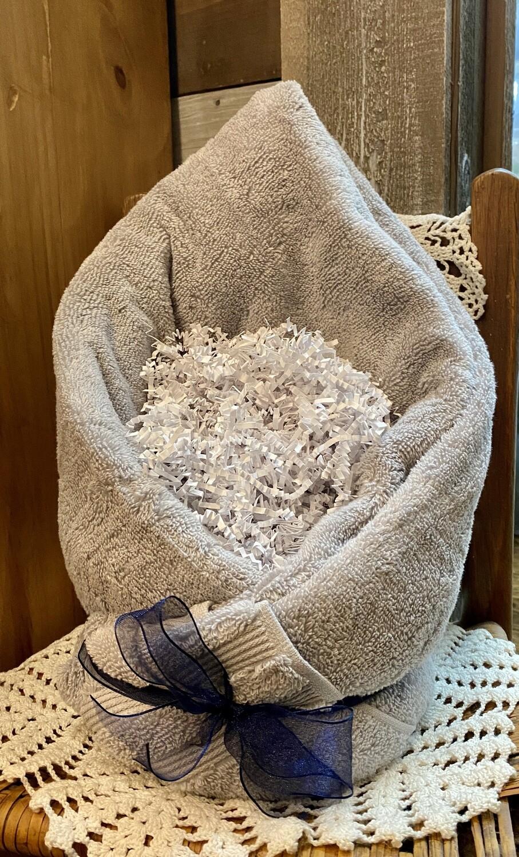 Soft Silver Grey Spa Basket