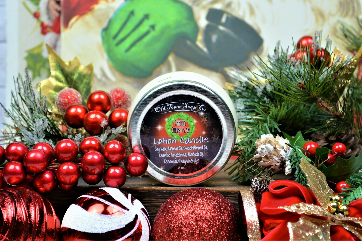 Cherry Christmas -Lotion Candles