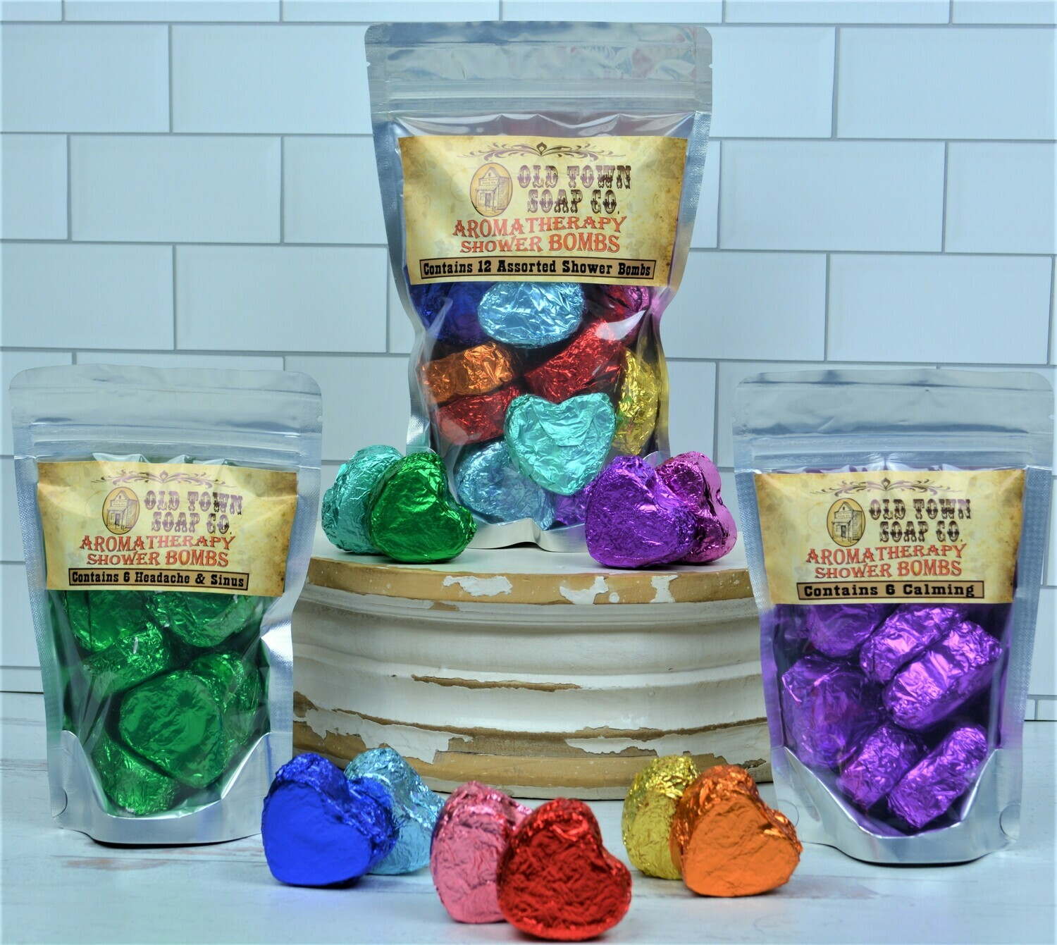 12 Assorted -Aromatherapy Shower Bomb
