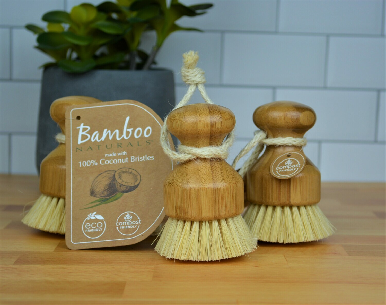 Bamboo Palm Brush -Dish Soap Bar