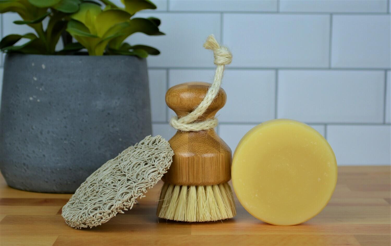 Clean Lemon Dish Soap Kit -Dish Soap Bar