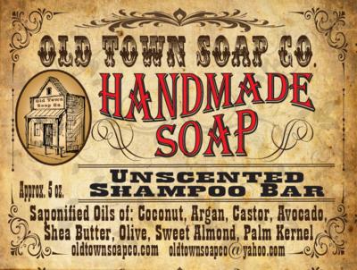 Unscented -Shampoo Bar