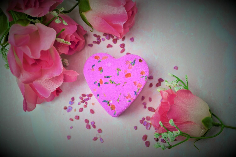 Rose Vanilla Heart Bath Bombs