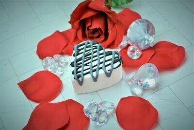 Black Lace Heart Bath Bombs