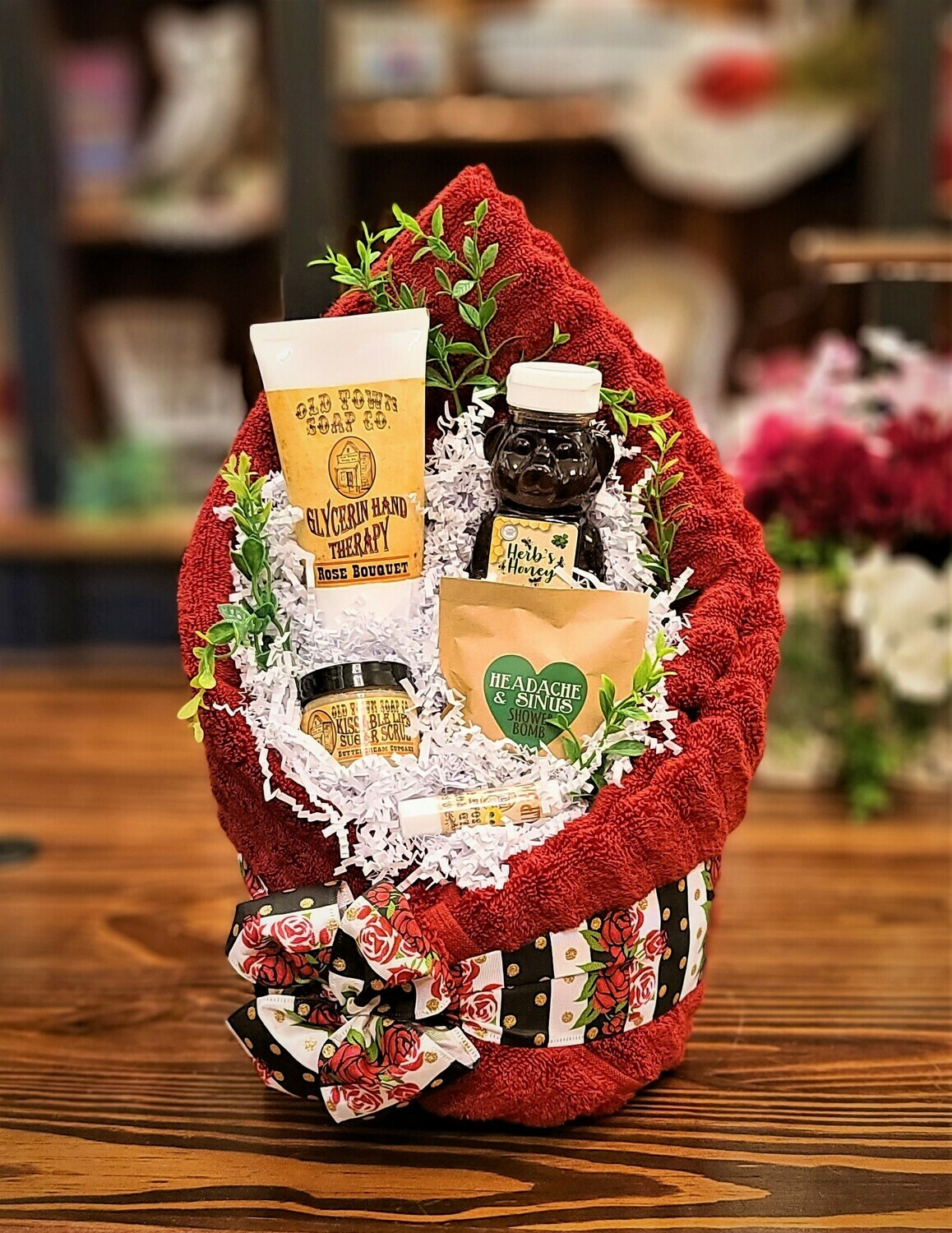 Red Spa Basket