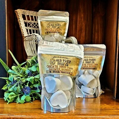 6 Unscented -Aromatherapy Shower Bomb