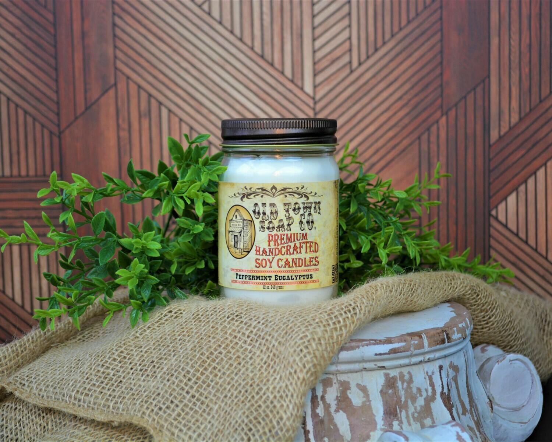 Peppermint Eucalyptus - 12oz. Candles