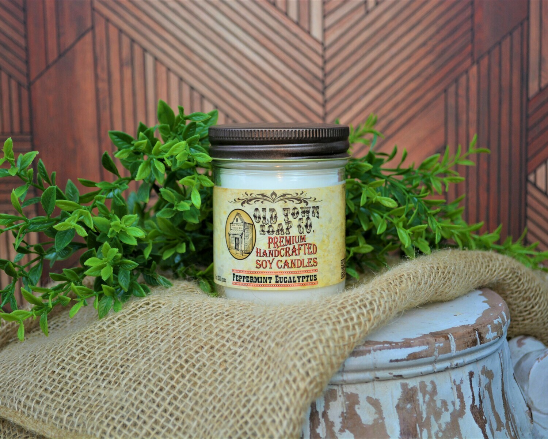 Peppermint Eucalyptus - 8oz. Candle