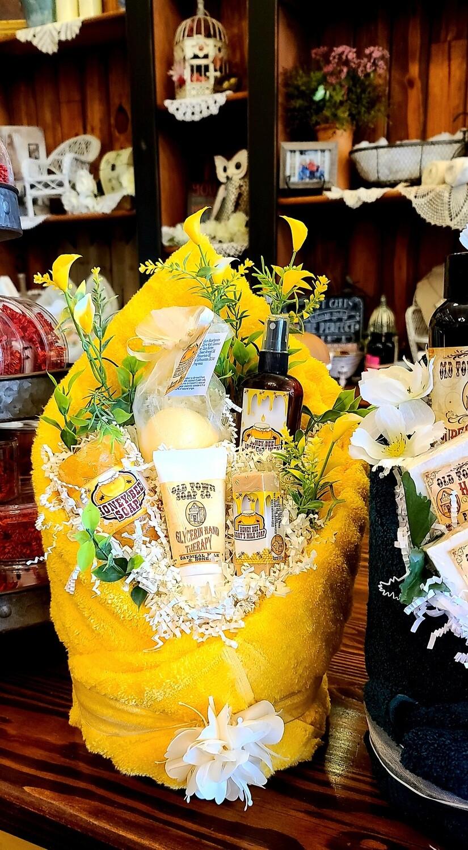 Yellow Spa Basket