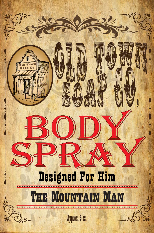 The Mountain Man -Body Spray