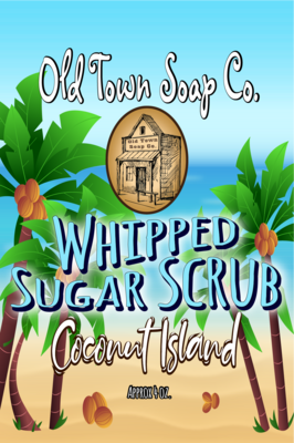 Coconut Island -Whipped Sugar Scrub Soap