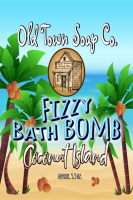 Coconut Island Bath Bomb -Large