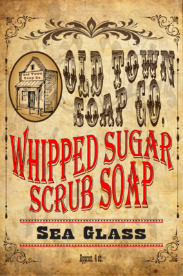 Sea Glass -Whipped Sugar Scrub Soap