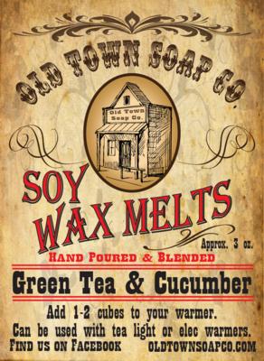 Green Tea & Cucumber -Wax Melts