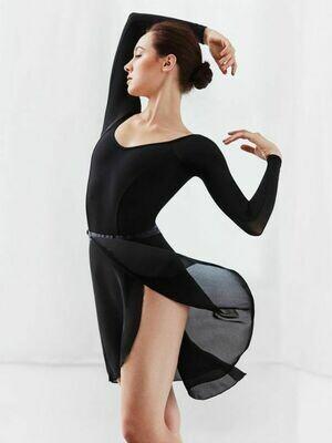 Capezio Long Georgette Wrap Skirt