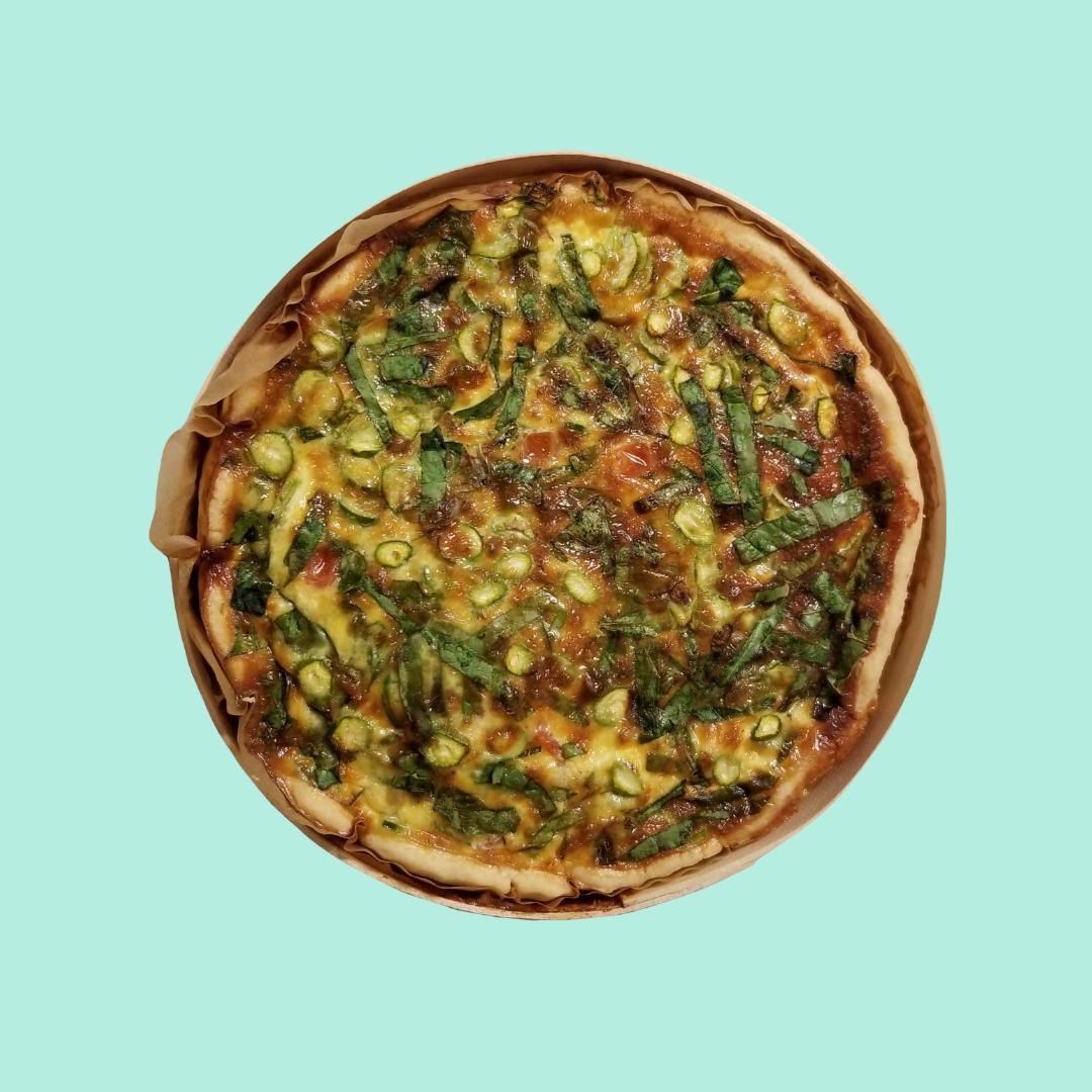 Quiche 8 - Tomato Spinach