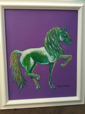 Stallion Piaffing