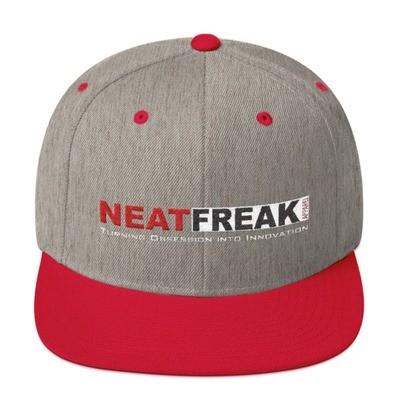 *RED LOGO*- HEATHER 2 TONE FLAT BRIM HAT [3 Color Options]
