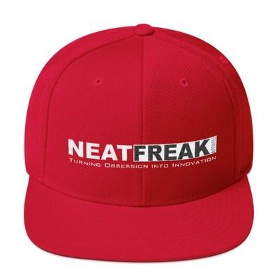 *WHITE LOGO*- SOLID CLASSIC FIT FLAT BRIM HAT [4 Color Options]