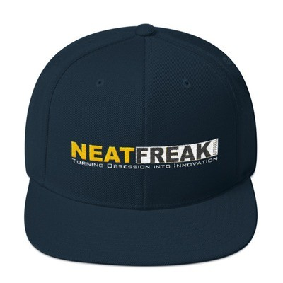*YELLOW LOGO*- SOLID CLASSIC FIT FLAT BRIM HAT [2 Color Options]
