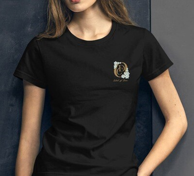 OCD Flower Logo Label of Love (Left Pocket)- FASHION FIT CLASSIC WOMAN'S TEE [7 Colors]
