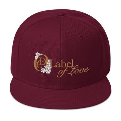 OCD Flower Logo, Label Of Love- CLASSIC FIT FLAT BRIM HAT [4 Colors]