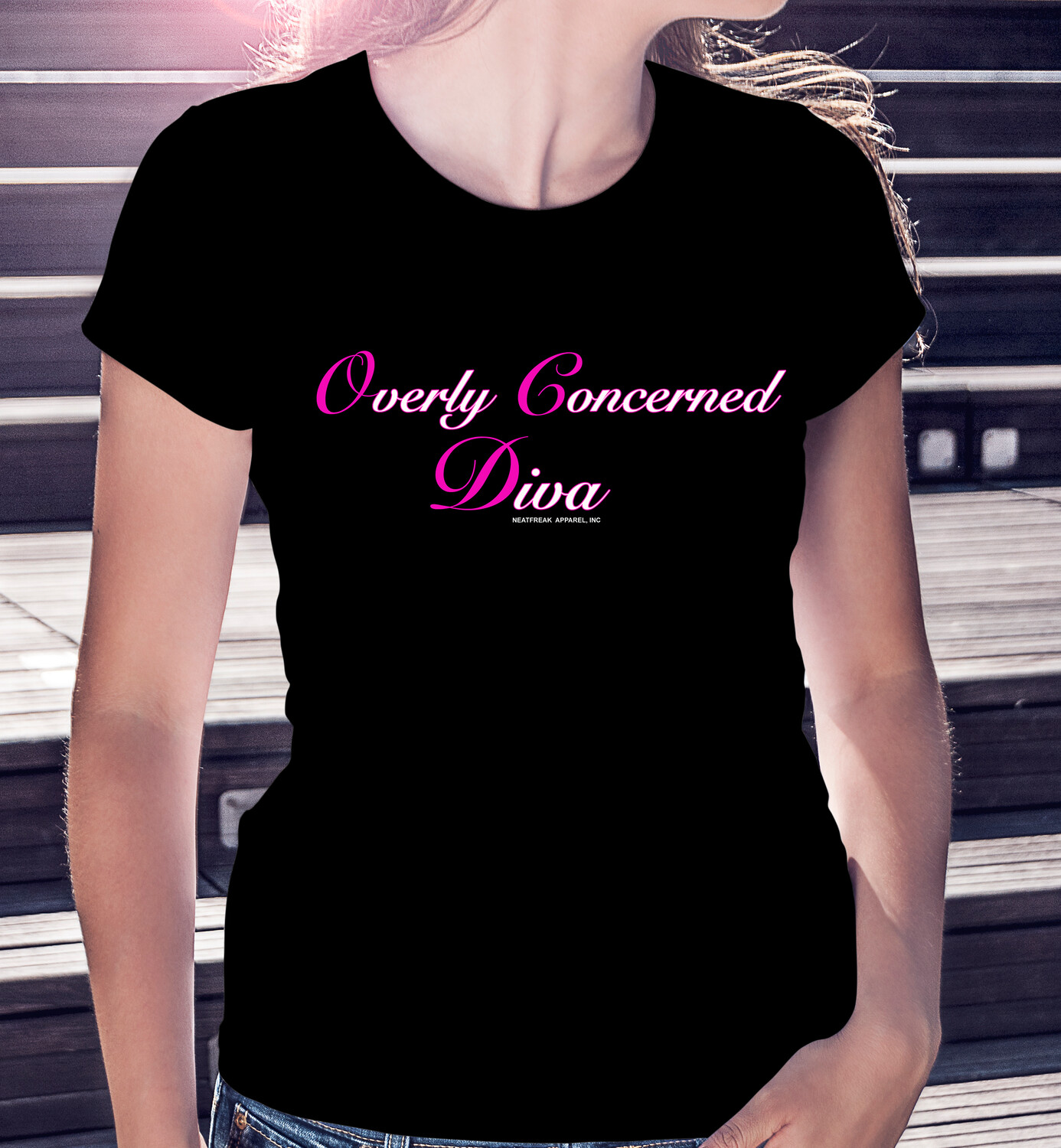 """(OCD) """"Overly Concerned Diva"""" - DARK CLASSIC WOMAN'S TEE [3 Colors]"""