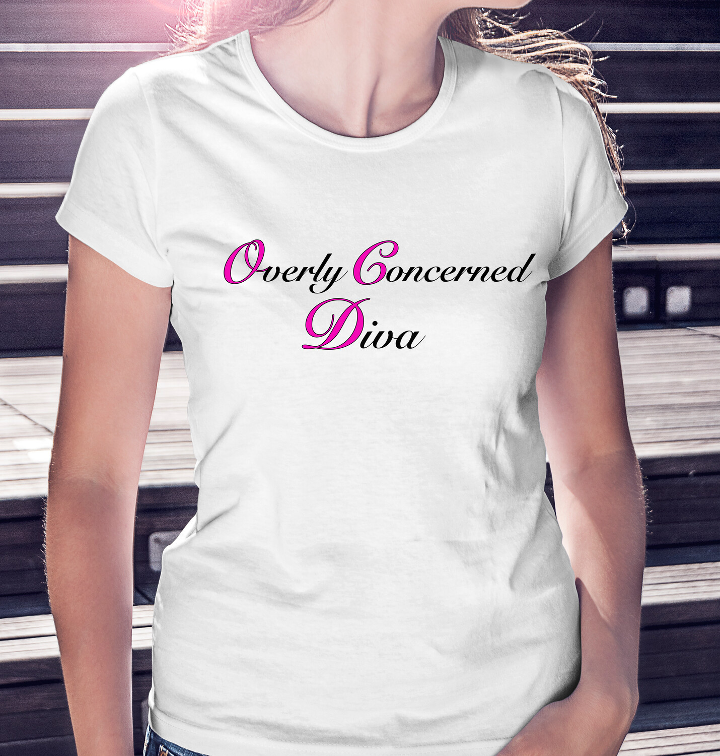 """(OCD) """"Overly Concerned Diva"""" - LIGHT CLASSIC WOMAN'S TEE [5 Colors]"""