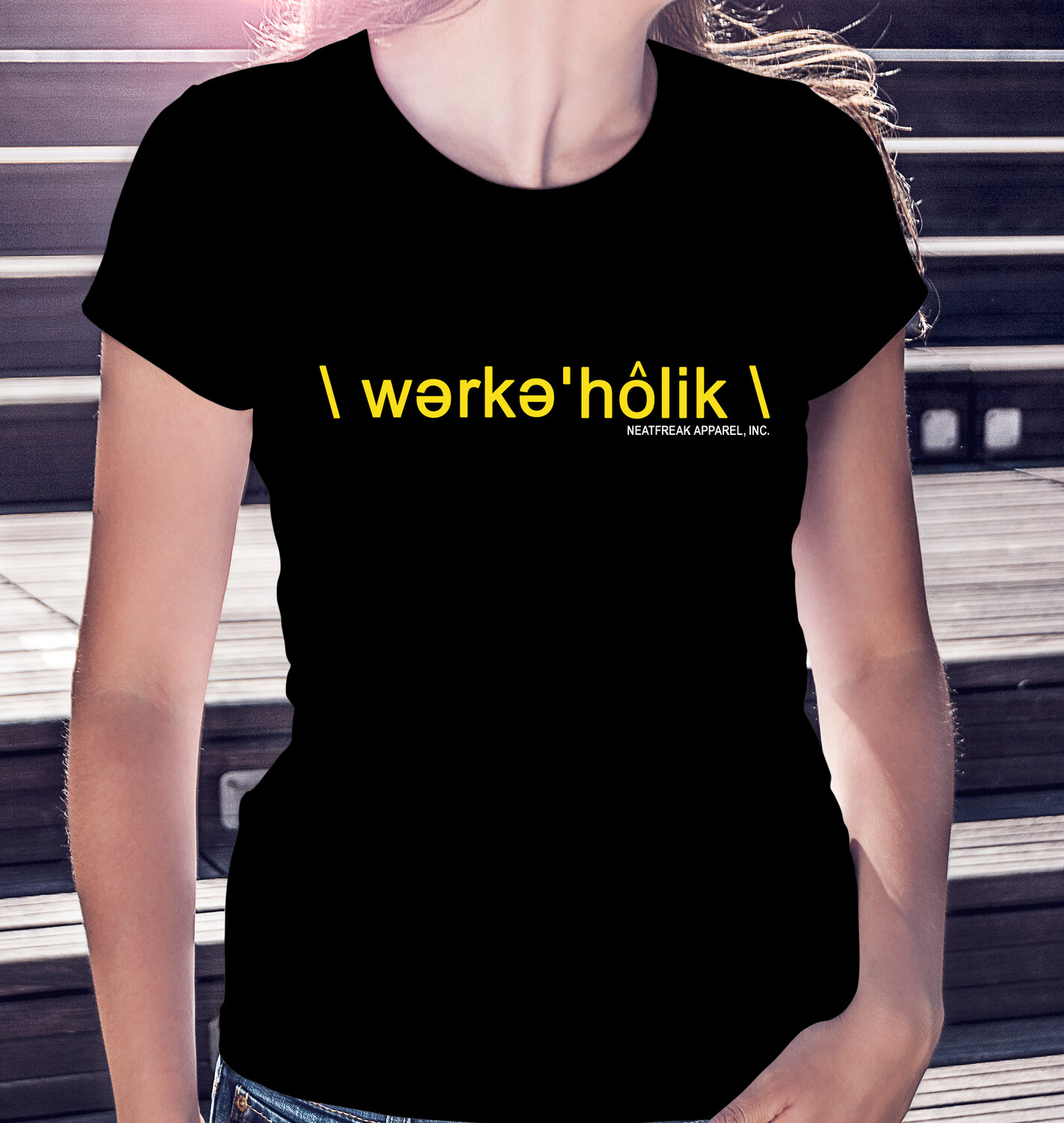WORKAHOLIC- CLASSIC WOMAN'S TEE [3 Colors]