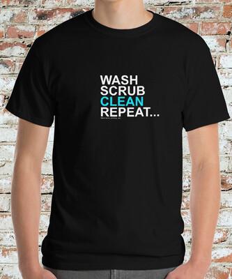 WASH SCRUB CLEAN REPEAT -CLASSIC HEAVY- MEN'S TEE [6 Colors]