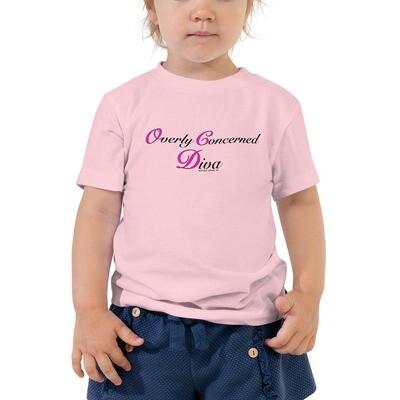 (OCD) OVERLY CONCERNED DIVA (Pnk & Blk)- Toddler Tee