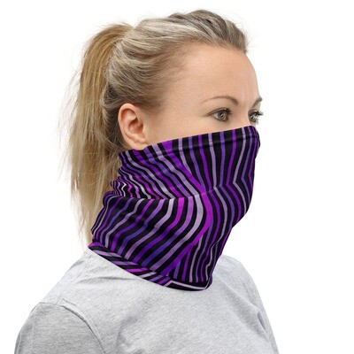 PSYCHEDELIC PURPLE- All Purpose Face Covering/Neck Warmer