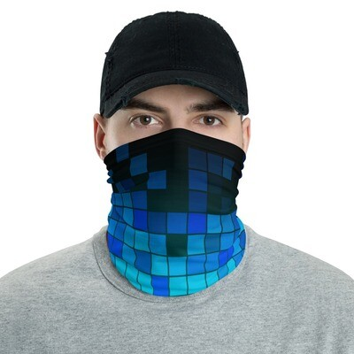 BLUE CHECKERS- All Purpose Face Covering/Neck Warmer