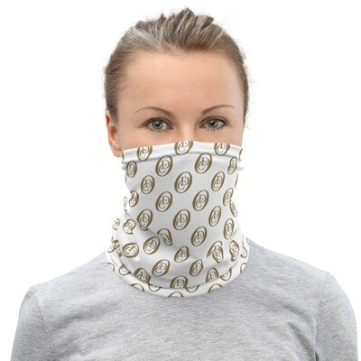 """""""OCD"""" LOGO (Wht & Gold)- All Purpose Face Covering/Neck Warmer"""