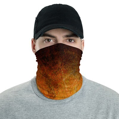 ORANGE CRACKLE DYED- All Purpose Face Covering/Neck Warmer