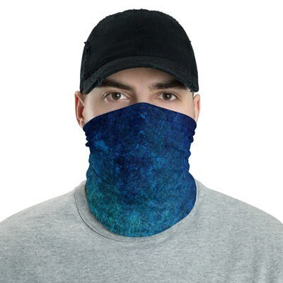 BLUE CRACKLE DYED- All Purpose Face Covering/Neck Warmer