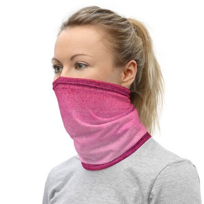 PINK CRACKLE DYED- All Purpose Face Covering/Neck Warmer