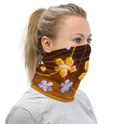 JEWELED FLOWERS- All Purpose Face Covering/Neck Warmer