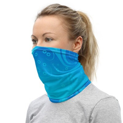 BLUE WAVES- All Purpose Face Covering/Neck Warmer