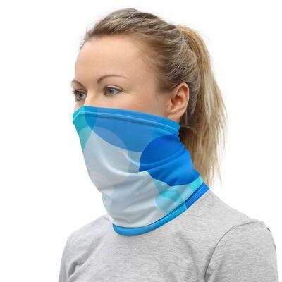 BLUE BUBBLES- All Purpose Face Covering/Neck Warmer