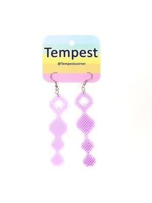 Light Purple Anal beads - Perler Earrings