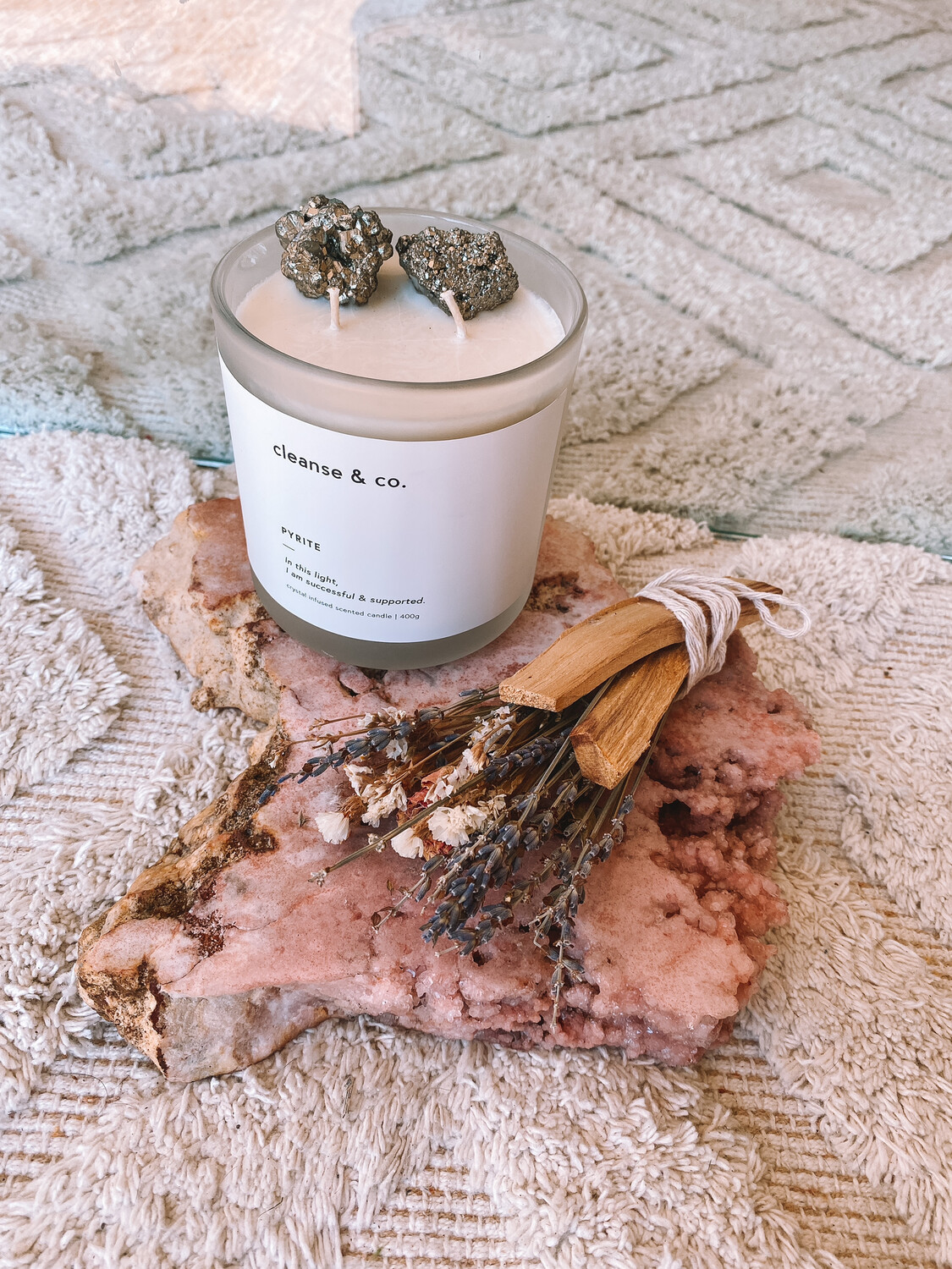 PYRITE CRYSTAL CANDLE