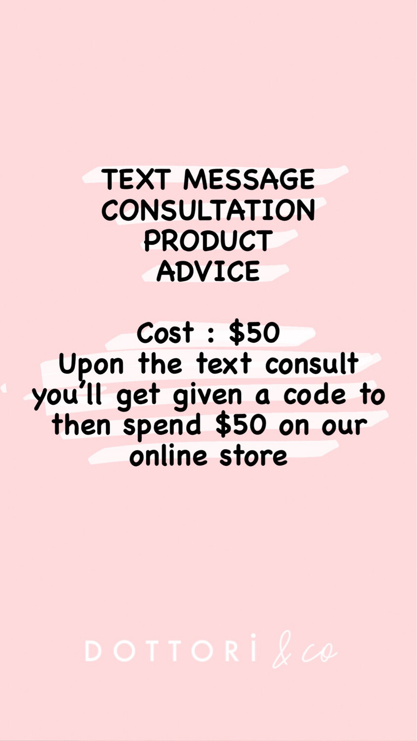Product Consult Via TEXT